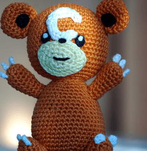 Teddiursa-Inspired Crochet Animal
