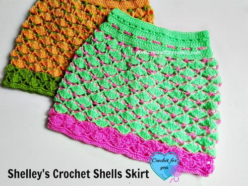 Shelley's Crochet Shells Skirt