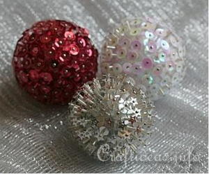 Bursting Bead Christmas Ball Ornaments