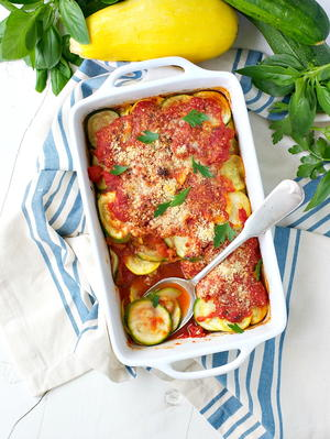Easy Zucchini and Squash Gratin