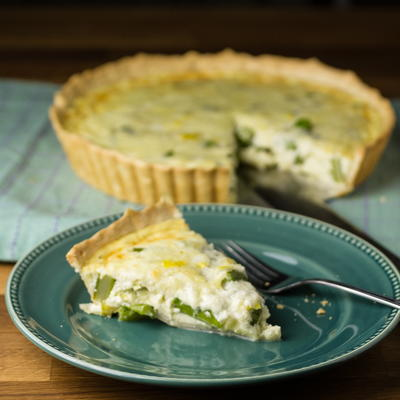 Asparagus Quiche with Leeks and Gruyere
