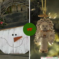 Most Popular Christmas Crafts: Snowmen vs Angels