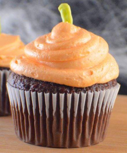 Pumpkin Cupcake Decoration Idea