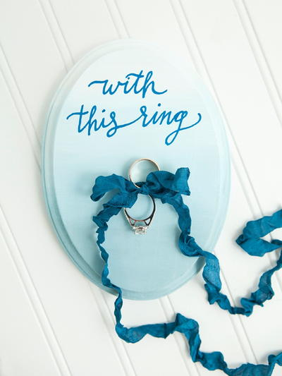 Painted Ring Bearer Plaque