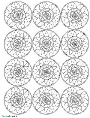 Mandala Printable Coloring Sheet Favecrafts Com