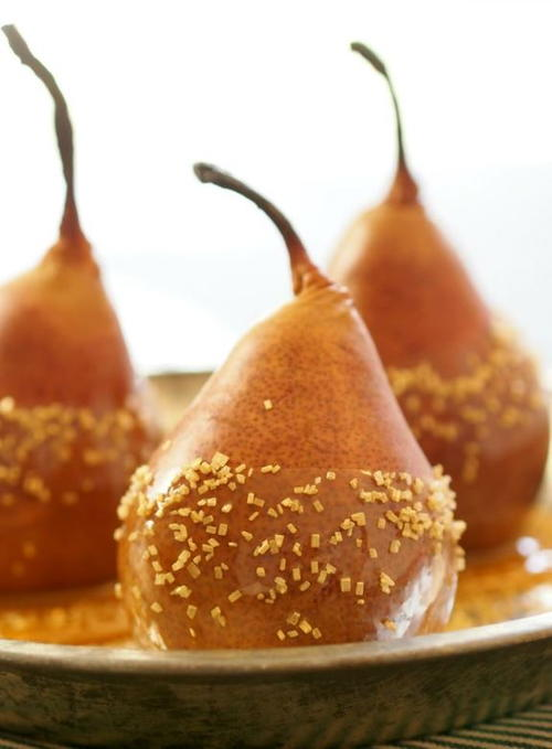Baked Caramel Dipped Pears