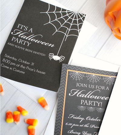 halloween party invitation templates - Homemade Halloween Party Invitations