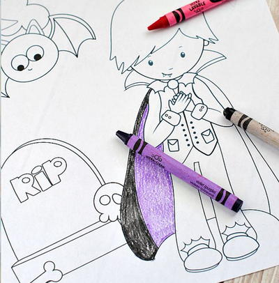 Assorted Halloween Coloring Pages