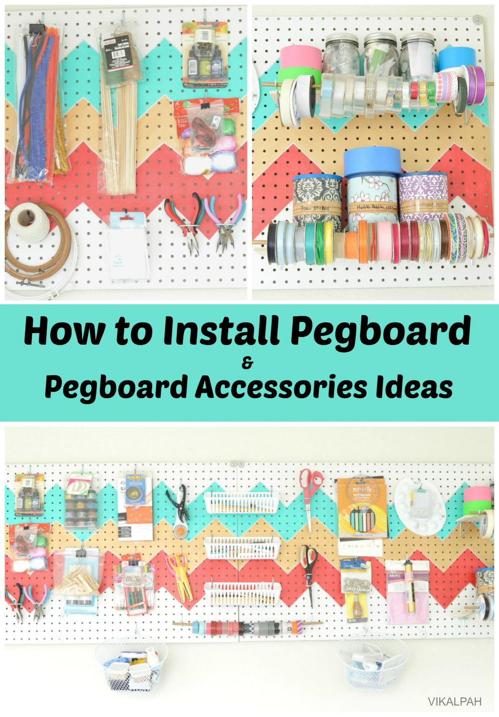 How to install pegboard to organize craft supplies for How to organize craft supplies