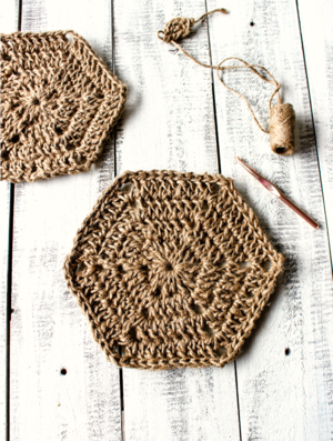 Hexagon Jute Trivet