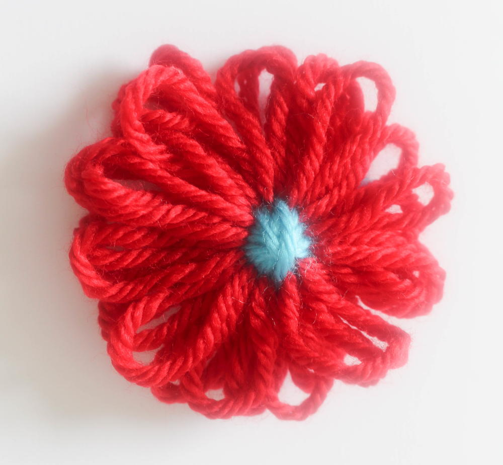 How to Make a Yarn Flower with