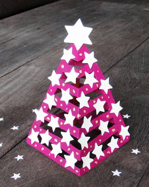 Glowing Paper DIY Christmas Tree