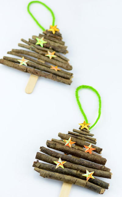 Merry Popsicle Stick Ornament
