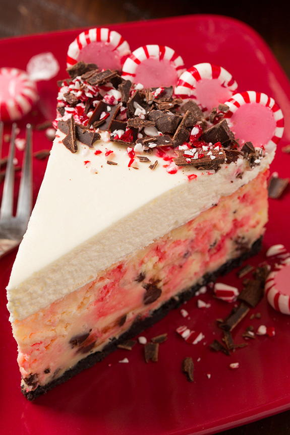 Easter Appetizers: Peppermint Bark Cheesecake