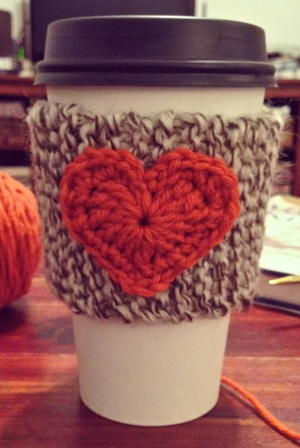 Pumpkin Spice Coffee Cozy