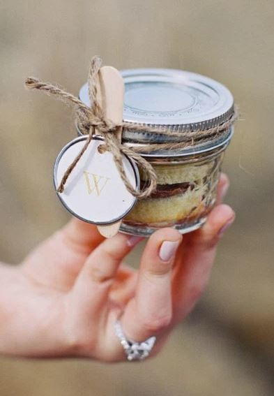DIY Mason Jar Cake Favors
