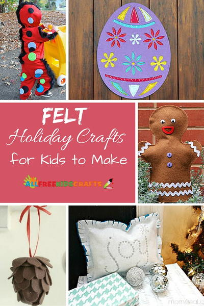 Easy Felt Holiday Crafts for Kids to Make