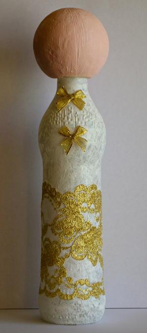 wine bottle angel diy christmas decoration