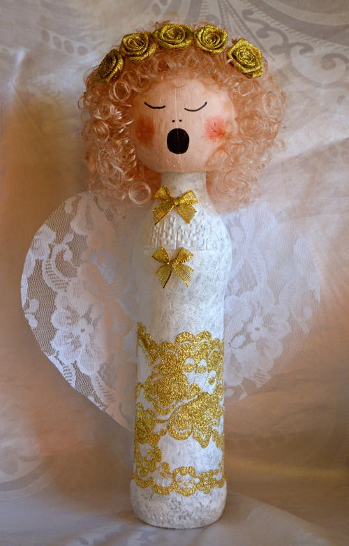 angel craft ideas wine bottle diy decoration 1046