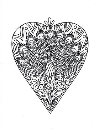 peacock printable coloring page - Printable Adult Coloring Book