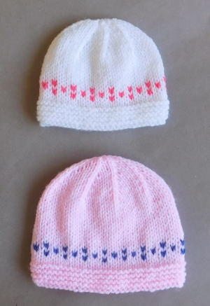 Springy Colorwork Baby Hats