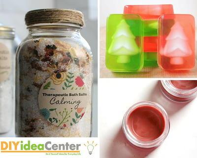 Homemade Christmas Gifts.Christmas Gift Diy Bath Products Diyideacenter Com