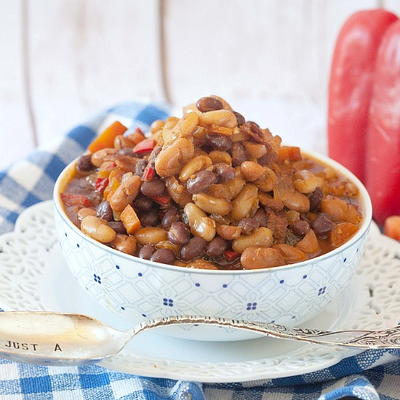 Cider Bacon Baked Beans