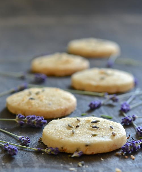 Vegan Lemon Lavender Shortbread