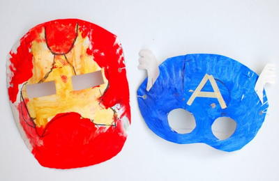 Simple Superhero Paper Plate Masks