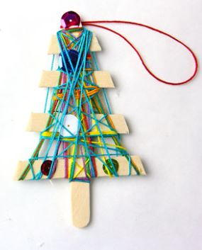 Christmas Ornament Yarn Craft for Kids