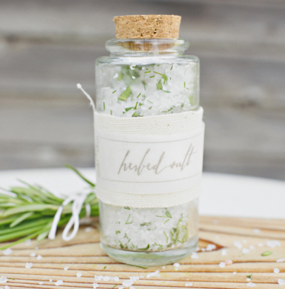 DIY Herbed Salt Favors