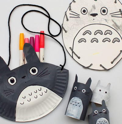 Totoro-Inspired Paper Crafts for Kids
