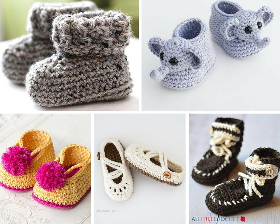 How to Crochet Baby Booties with 51 Patterns ...