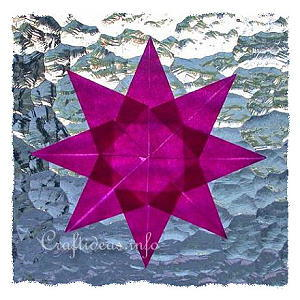 Translucent Star Paper Christmas Ornament