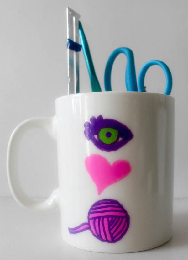 Eye Heart Yarn (I Love Yarn) Mug Tutorial