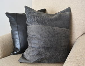 Recycled Leather Cushion Cover With No Zip