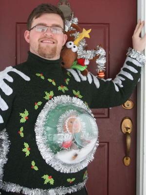 Christmas Tree Ugly Sweater Diy.Snow Globe Diy Ugly Sweater Allfreechristmascrafts Com