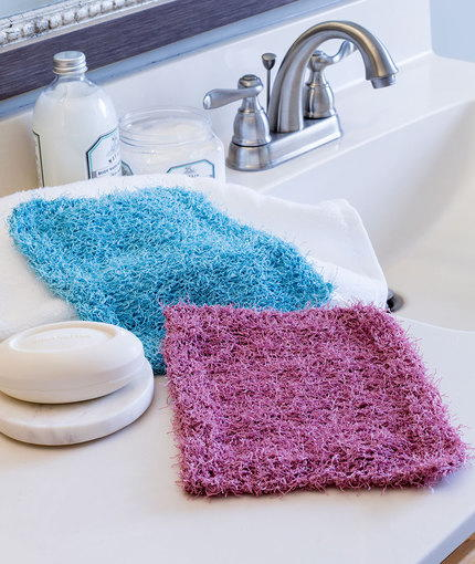 Simple Knit Scrubby Washcloth