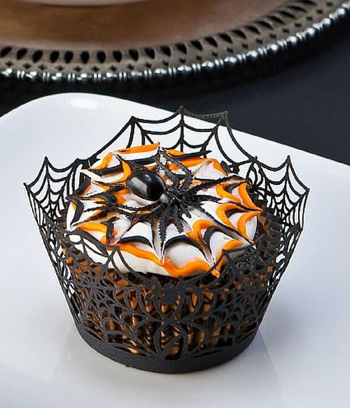 Extra Spooky Chocolate Halloween Cupcakes