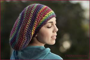 Mountain Sunset Slouchy Beanie