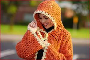 Orange Creamsicle Hooded Cardigan