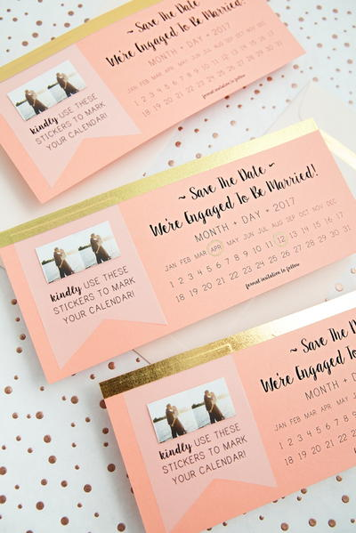 Printable Sticker Save the Dates