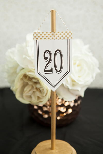 Adorable Hanging DIY Table Numbers