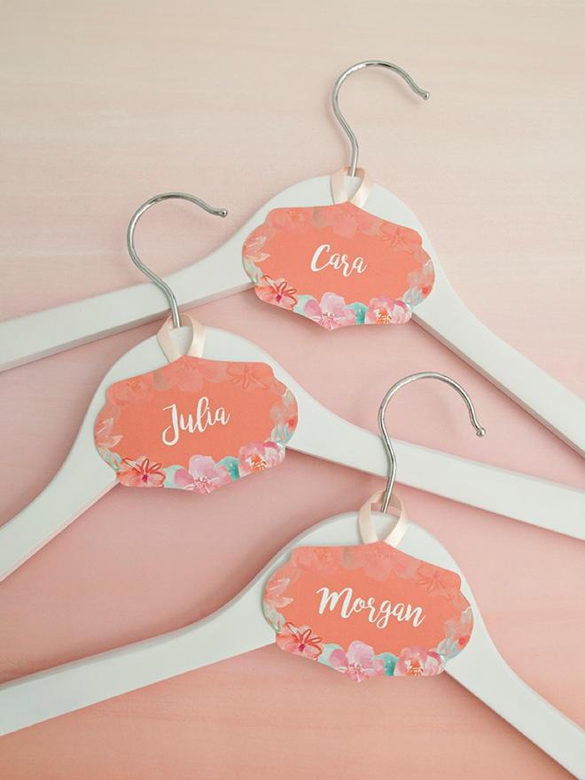 Wedding Hanger Printable Name Tags | AllFreeDIYWeddings.com