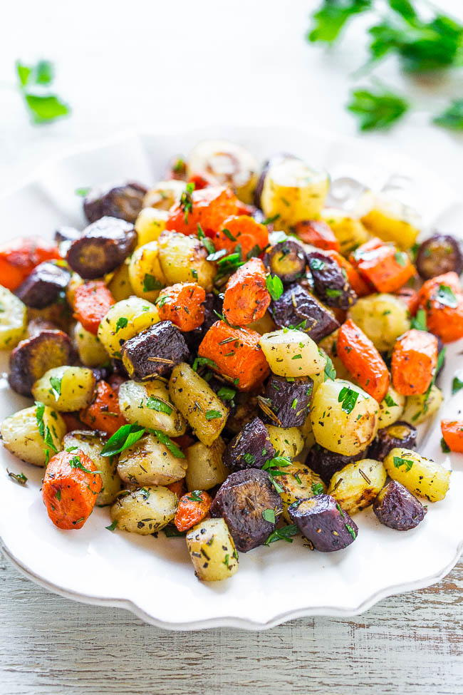 Herb Roasted Tri Colored Carrots Favehealthyrecipes Com
