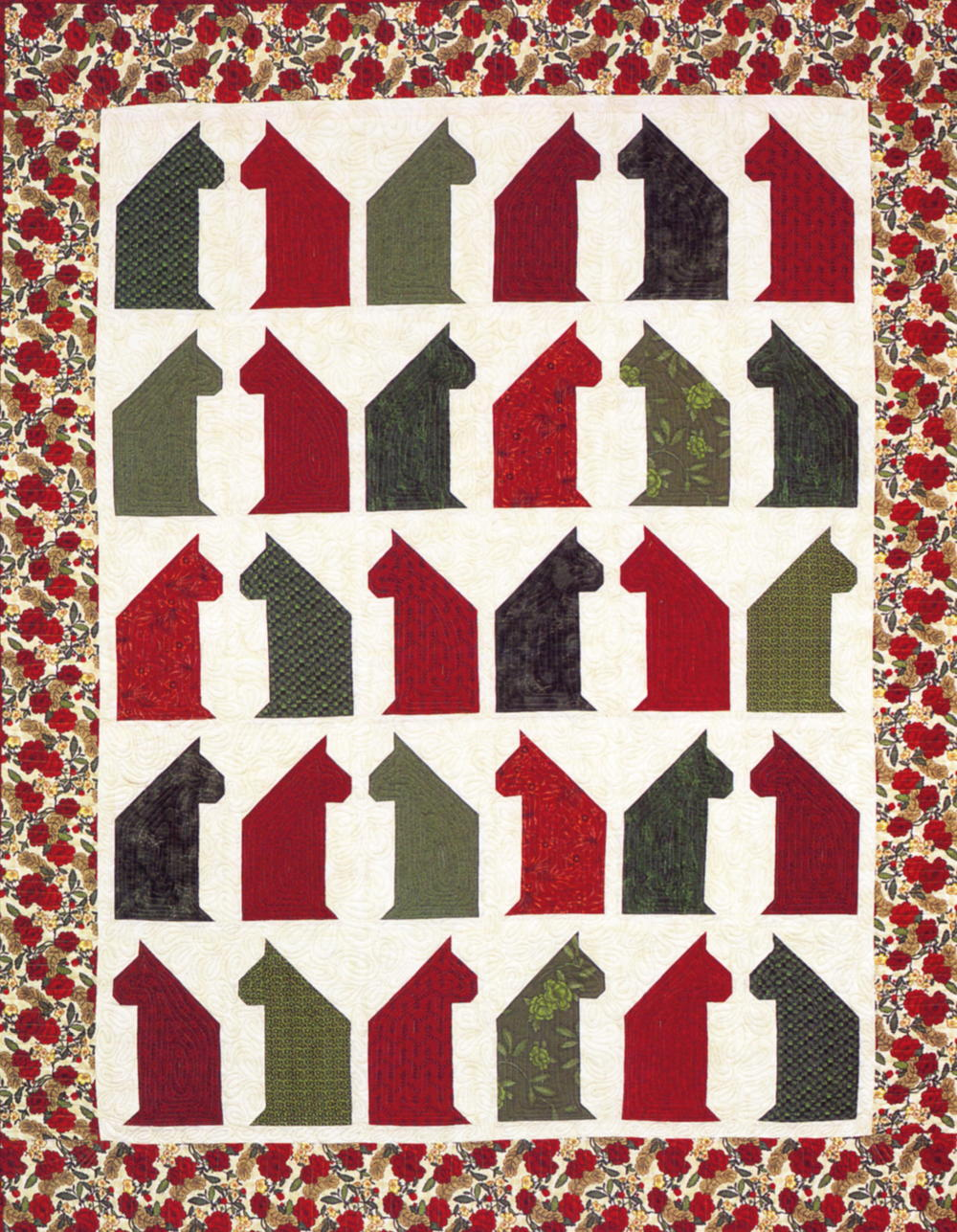 Christmas Cat Chat Quilt AllFreeSewing.com