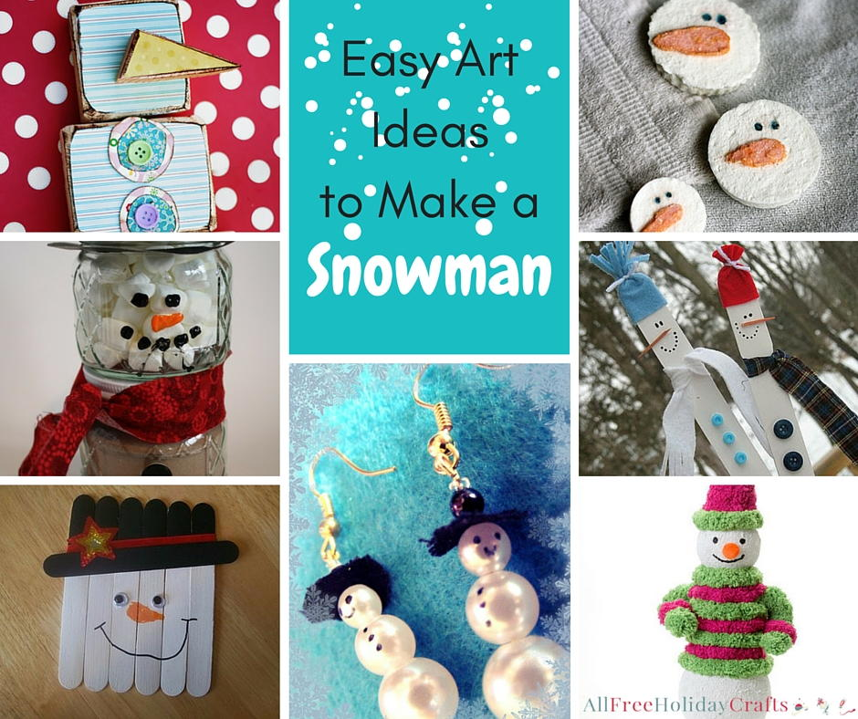 winter craft ideas 24 easy ideas to make a snowman allfreeholidaycrafts 3236