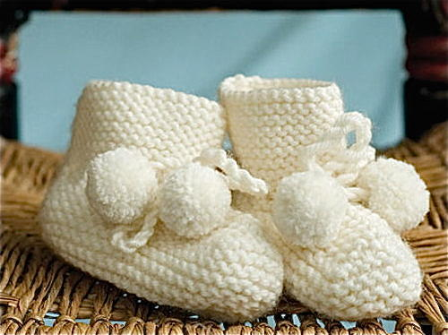 Pom-Pom Booties from 'Vintage Knits'