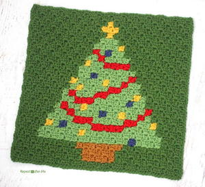 Have a Pixel Christmas: Christmas Tree Square