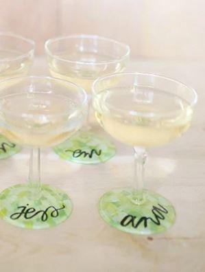 Custom Wine Glasses DIY Wedding Favors